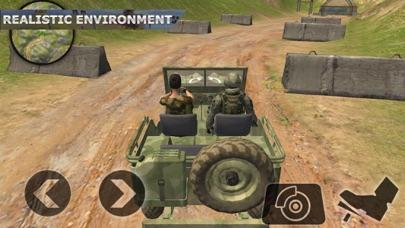 Army War Truck Driving Screenshot on iOS