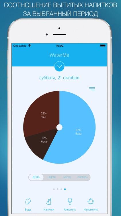 Трекер воды - WaterMe screenshot-3