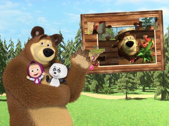 Ipad Screen Shot Masha and the Bear Games 1