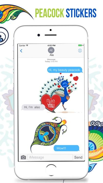 Peacock Stickers screenshot-3