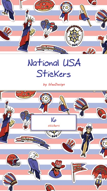 National USA Stickers