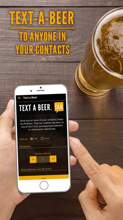 PintPass - Text Craft Beer
