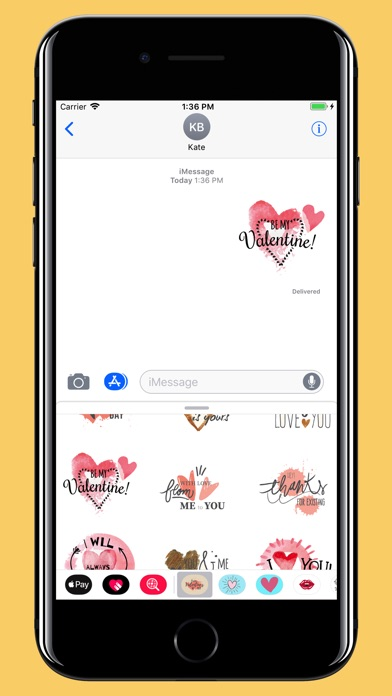 Screenshot for Water-draw Happy Valentine day in China App Store