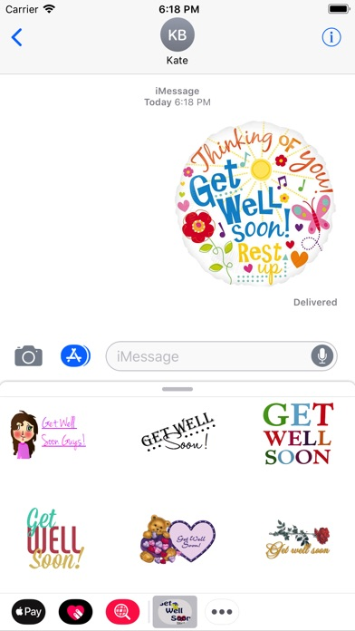 Get Well Soon Stickers 2018Screenshot von 2