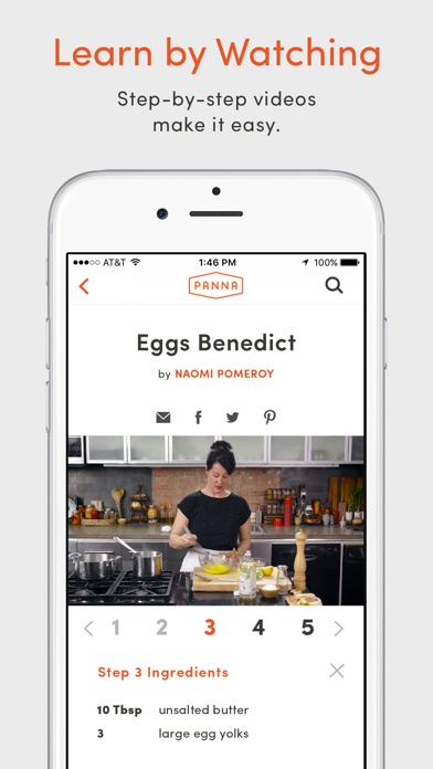 Panna: Video Recipes & Classes Screenshot
