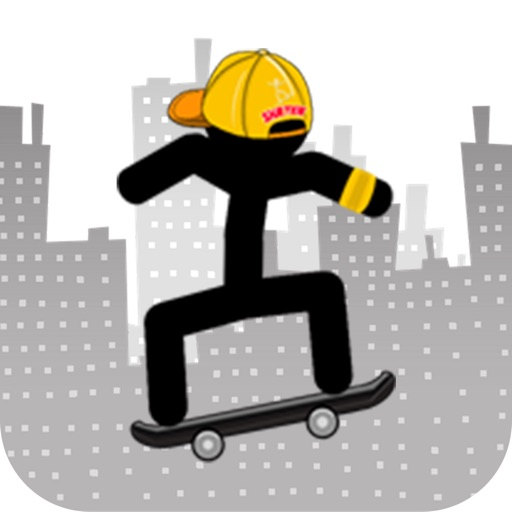 Skateboard Stickman-cool jump