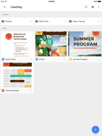 Google Drive – depolama ipad ekran görüntüleri