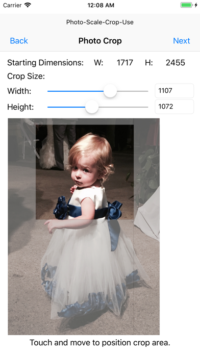 Photo - Scale - Crop - Use screenshot two