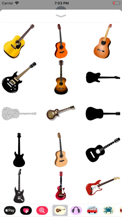 Groovy Guitar Stickers
