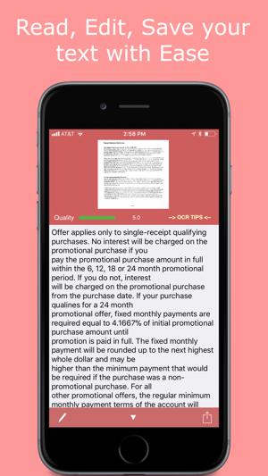 SmartOCR Text Reader Screenshot
