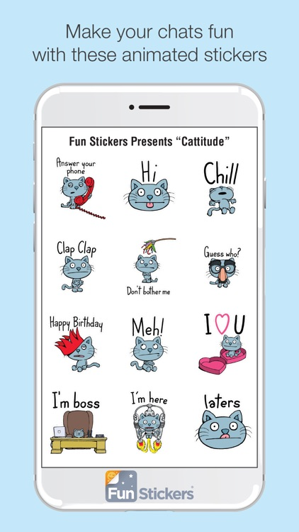 Cattitude iSticker