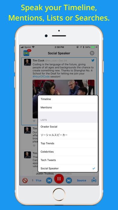 Social Speaker for Twitter Screenshot on iOS