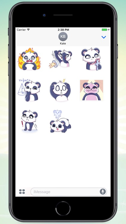 White Panda! Stickers