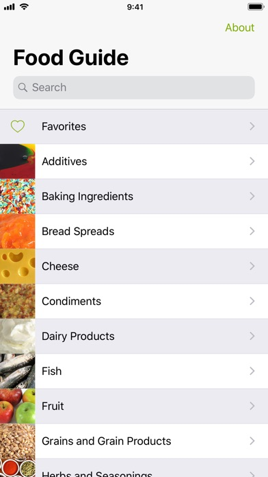 Screenshot for Food Guide in Canada App Store