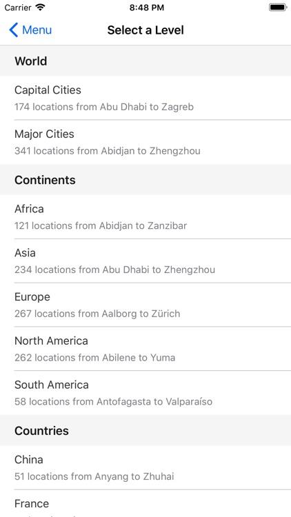 Map Challenge: Towns & Cities screenshot-4