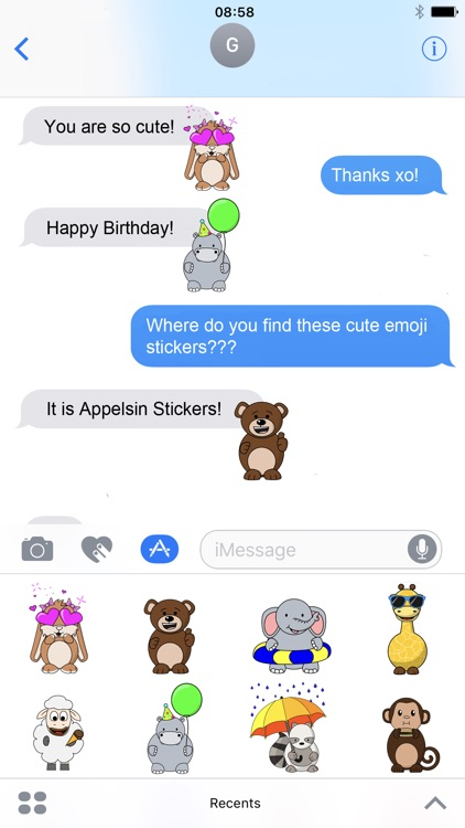 Appelsin Stickers - Animals Emoji - Animated