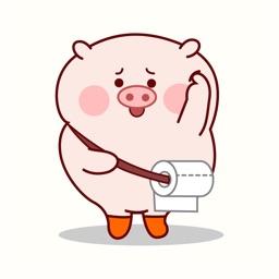 Goofy Pig Animated Stickers