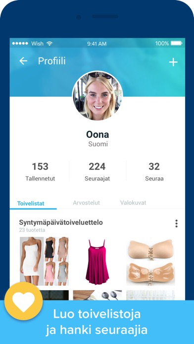 Screenshot for Wish - Shopping Made Fun in Finland App Store