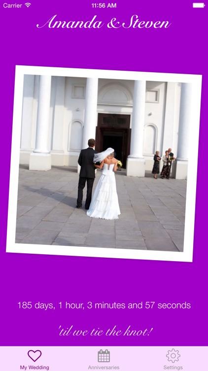 Tie The Knot Wedding Countdown screenshot-3