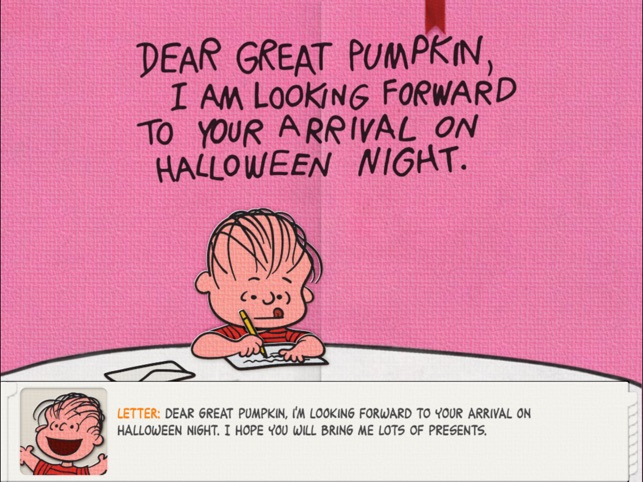 great pumpkin charlie brown on the app store