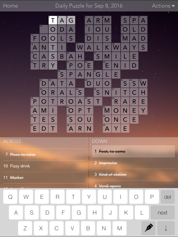 Crossword Puzzles! screenshot