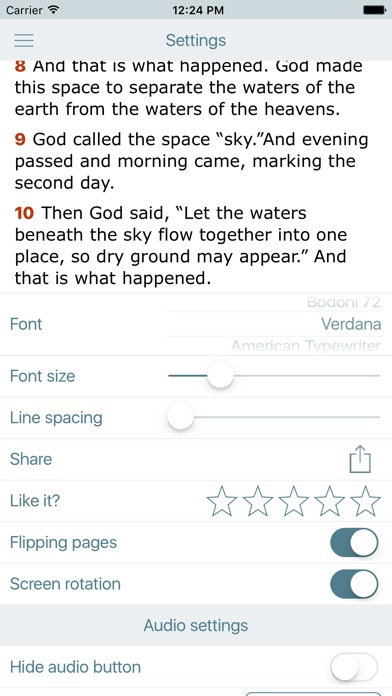 Screenshot for NLT Bible. Holy Audio Version in United States App Store