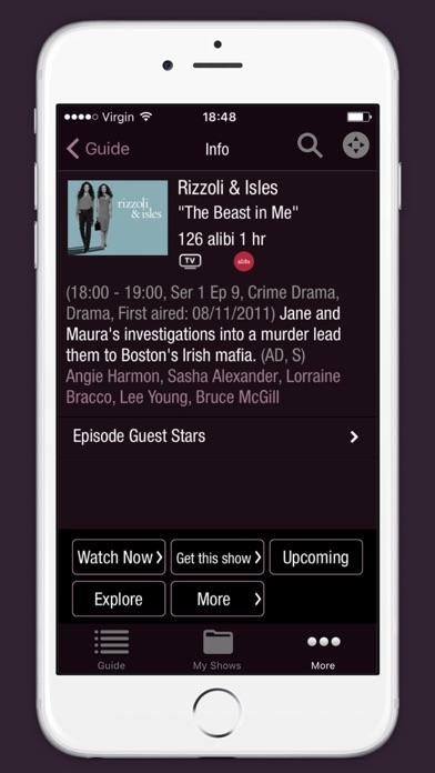 Virgin TV Control screenshot three