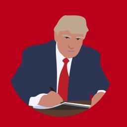 Donald Draws Executive Doodle