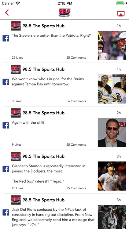 98.5 The Sports Hub screenshot-3