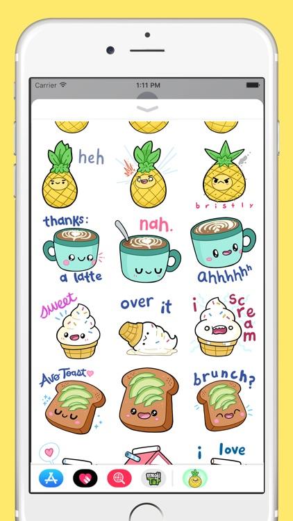 Comfort Food Stickers