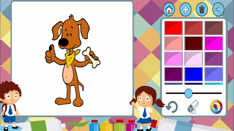 Dogs cats paint coloring book