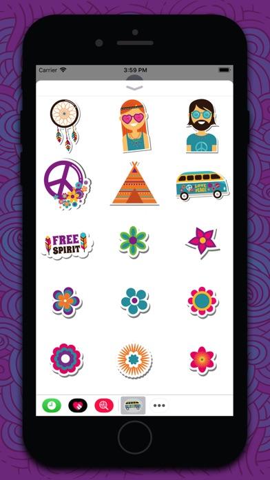 点击获取Hippie Bohemian Love Stickers