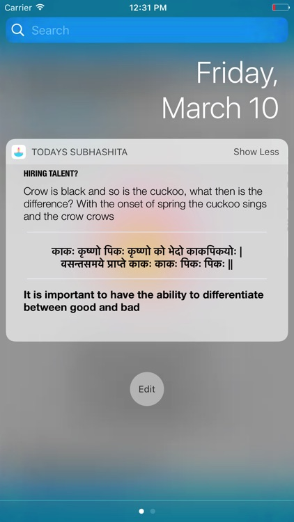 Situational Subhashita