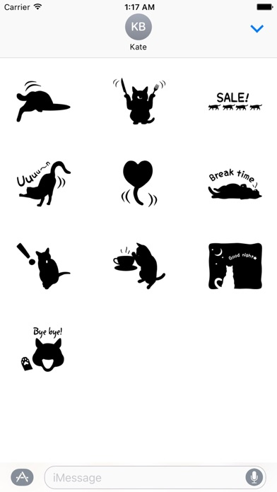 Shadow of Black Cat Stickers screenshot 3