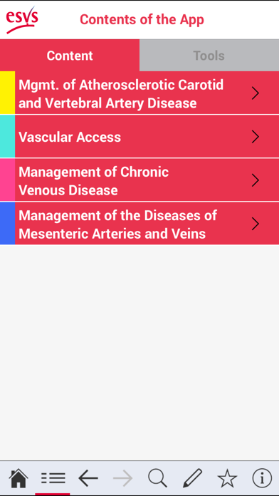 ESVS Clinical Guidelines screenshot two