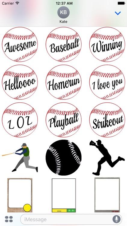 Boston Baseball Sticker Pack screenshot-3