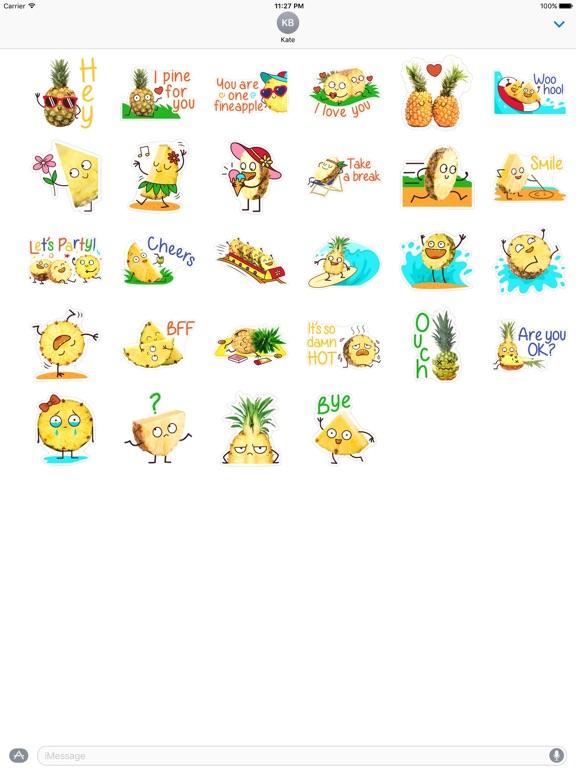 Hello Summer Pineapple Sticker screenshot 3