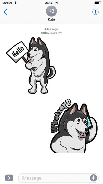 My HuskyMoji Dog Stickers
