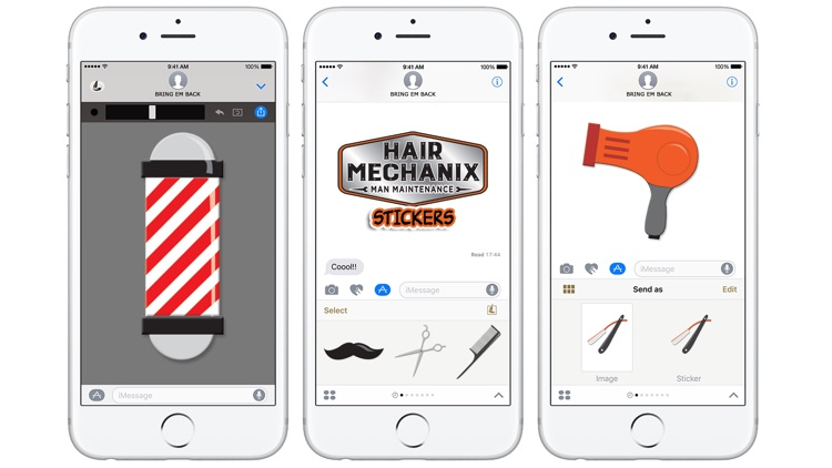 Hair Mechanix Stickers screenshot-3