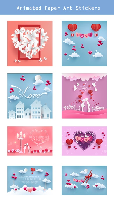 Animated Paper Art Love Pack screenshot 2