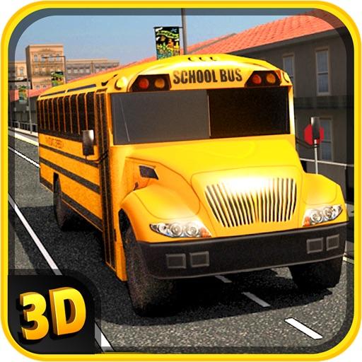 Школа Bus Simulator 3D - Привод с ума в городе и принять Парковка проблемы пошлин для детей весело