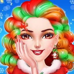 Christmas Girl Makeup Dressup