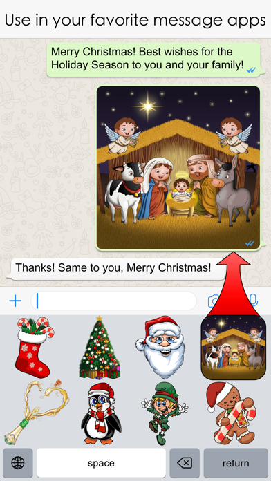 Xmas Emojis screenshot four
