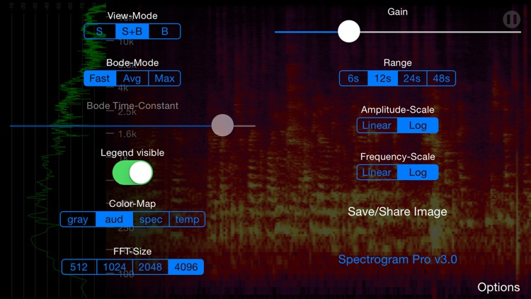 Spectrogram Pro (with super-smooth 60Hz update)