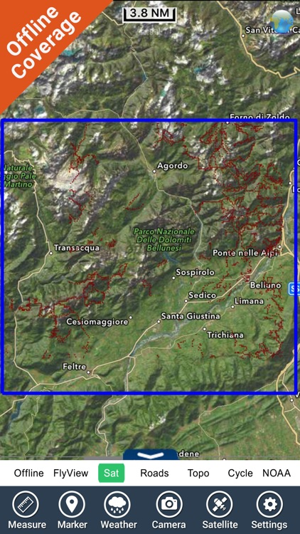 Dolomiti Bellunesi National Park GPS Map Navigator screenshot-4