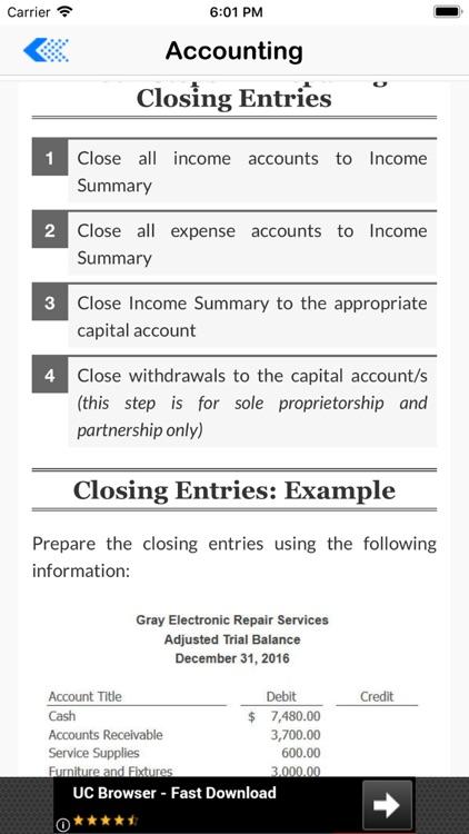 Basic Accounting Tutor screenshot-3