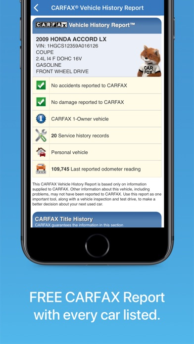 download CARFAX Find Used Cars for Sale