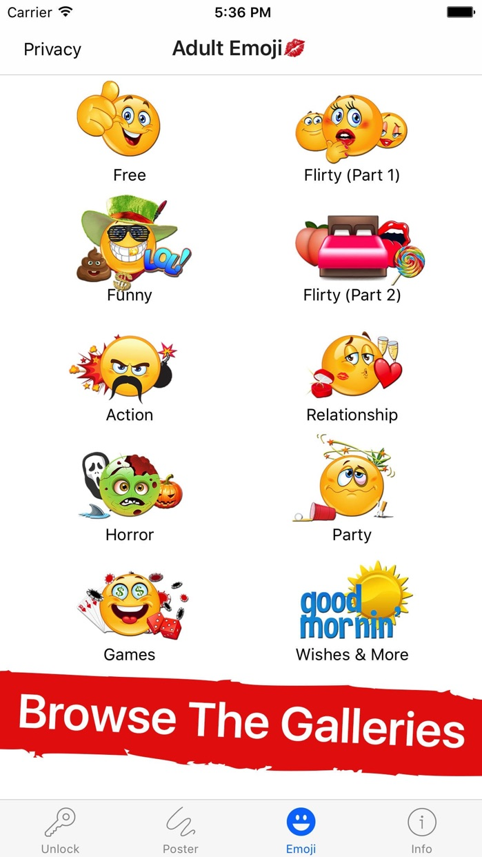 Adult Emoji for Lovers Screenshot