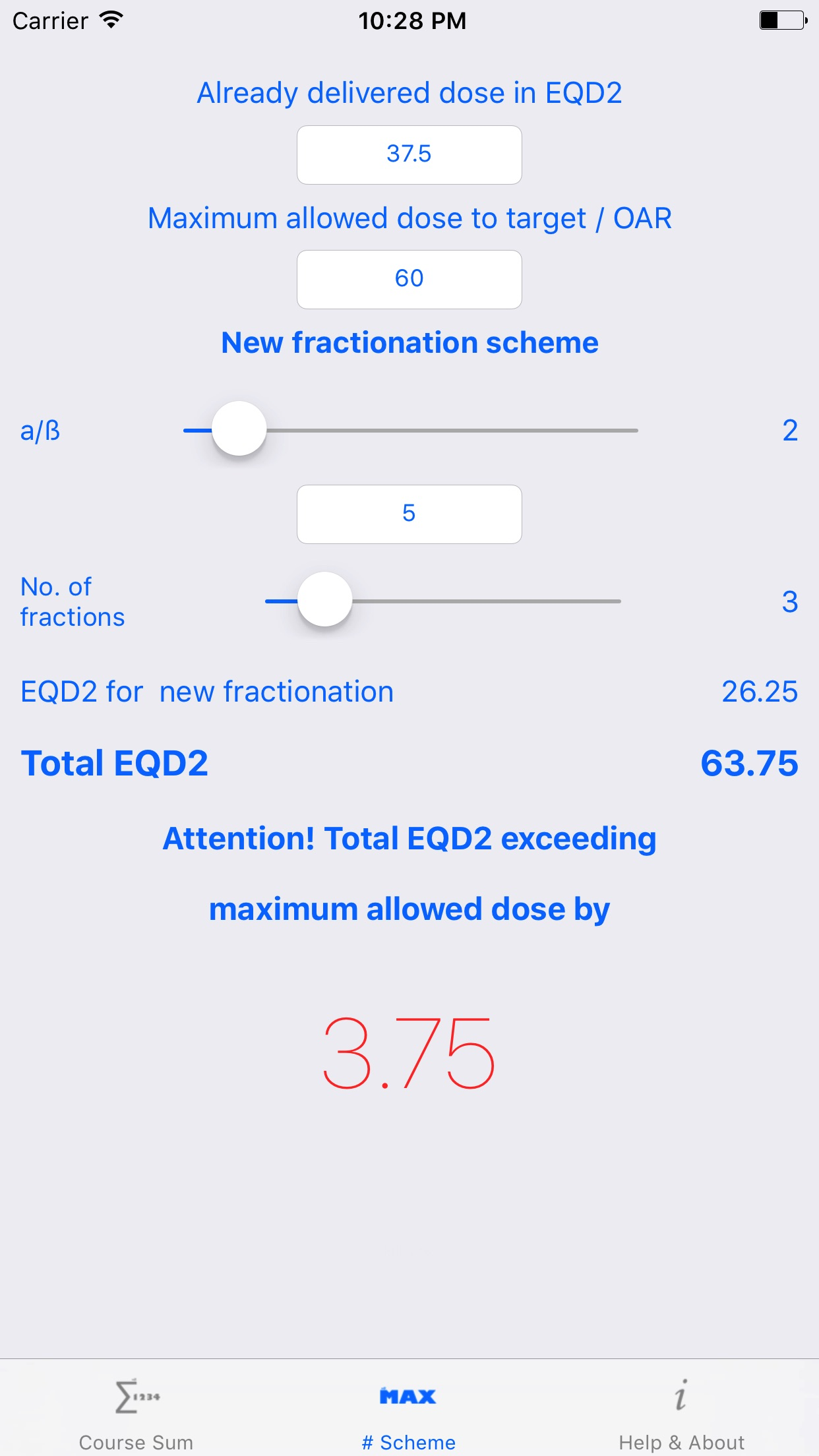 EQD2 Screenshot