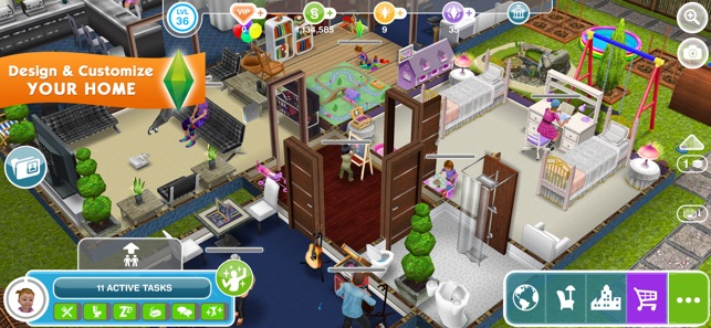 Games on the app store like sims